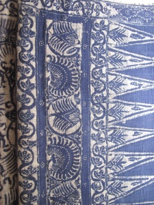 Batik Tulis from Tuban, North Java. Dyed by  Sanggar Sekar Ayu, woven by Melik and batik by Cuari.