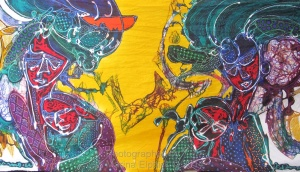 Batik by Bambang Darmo, an artist I visited