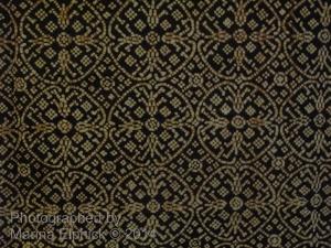 Detail of Nitik from a batik Kain (large sarong) displayed at the Danar Hadi Museum