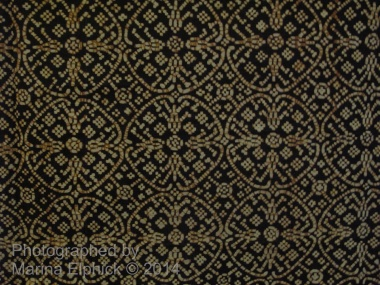 Detail of Nitik from a batik Kain (large sarong) displayed at the Danar Hadi Museum