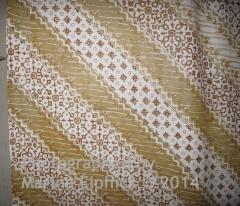 Detail of waxed, un-dyed design combining Parang and Nitik motifs
