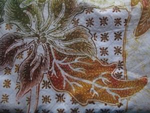 Detail of Nitik on Tatang's batik in progress