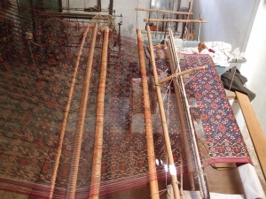 Patola being woven on a loom, India