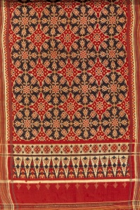 Silk woven Patola from Gujarat,  with patterns that inspired Nitik