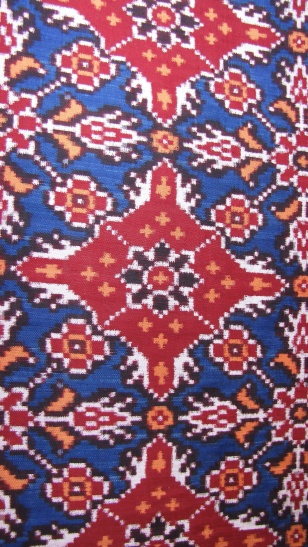 Detail of Patola from India.