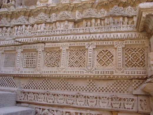 Architectural detail that reflects the Patola designs of Gujarat, India