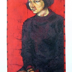 Eva , batik on cotton by Marina Elphick
