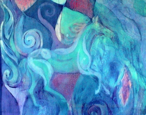Detail from James and Olivia Batik,  by British batik artist, Marina Elphick.