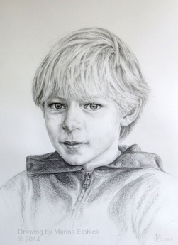 Pencil drawing portrait by Marina Elphick