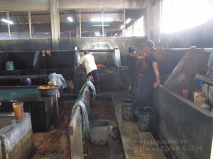 The dye room at Danar Hadi factory
