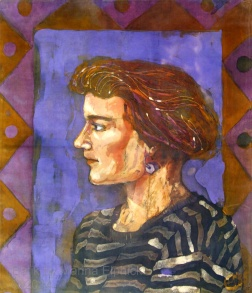 Batik Portrait of Kirsty, by Marina Elphick