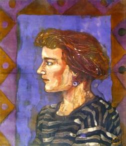 Batik Portrait of Kirsty, by Marina Elphick