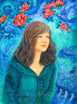 Batik Portrait by Marina Elphick Batik on paper