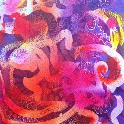 Transience, batik on paper by Marina Elphick