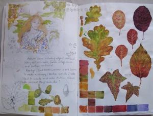 Studies for Autumn portrait.
