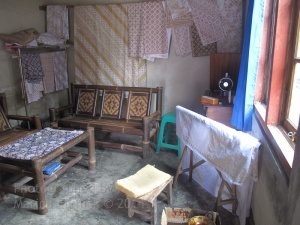 Mrs Aminah's house and workroom