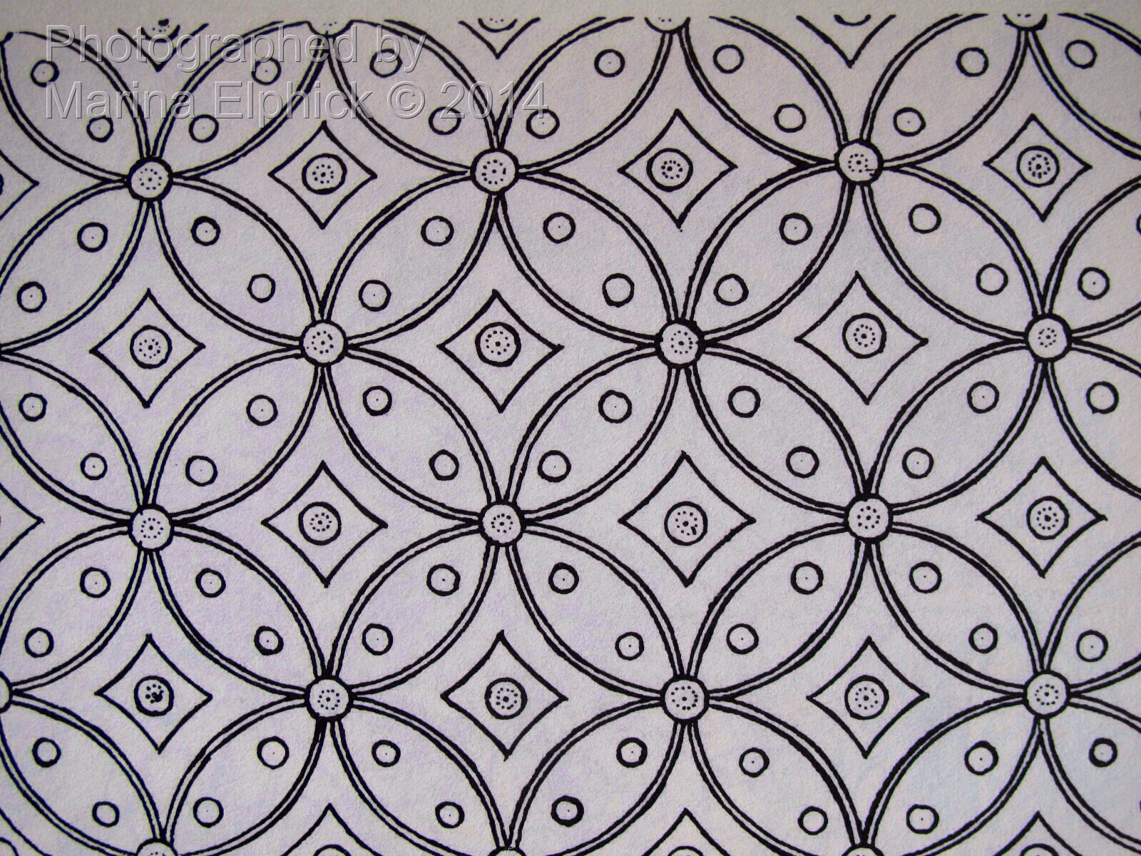 """Repeated Kawung in a Ceplok design photographed from """"Indonesian batik ..."""
