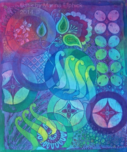 Batik with Kawung, Ceplok and Parang motif designs