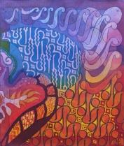 Parang, batik on cotton by UK batik artist Marina Elphick.