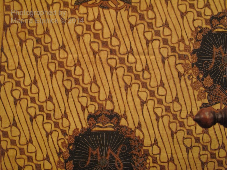 Batik Barong, worn by the King. Photo taken in The Danar Hadi Museum in Solo.