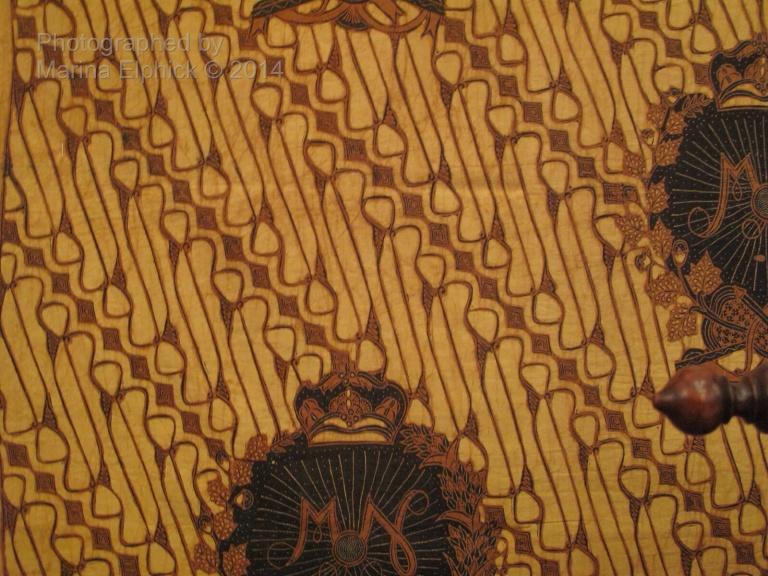 Batik Barong, worn by the King. Photo taken in The Danar Hadi Museum in Solo.