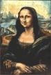 Batik copy of Mona Lisa by UK batik artist Marina Elphick. This was stolen from a batik exhibition in Bracknell