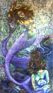 Batik. Contemporary Batik art by Marina Elphick, UK figurative batik artist.