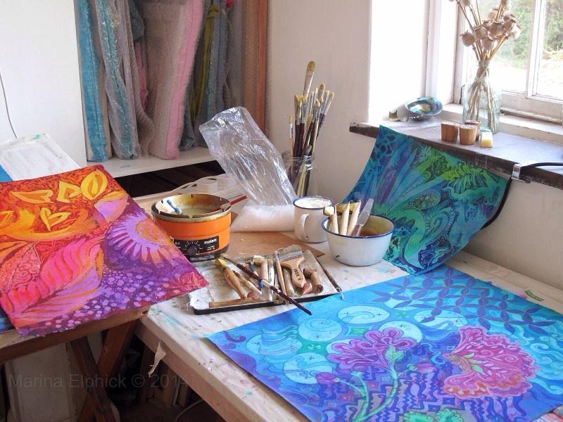 Batik. Contemporary batik artist Marina Elphick.