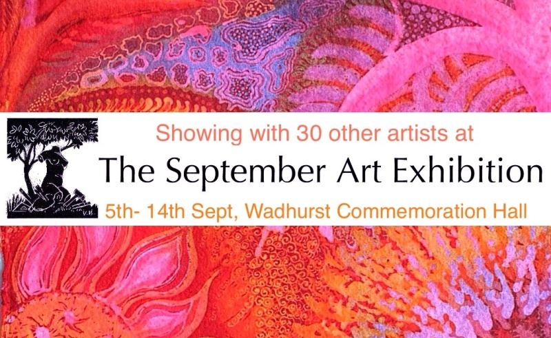 Batik by Marina Elphick, showing at the September Exhibition 2014