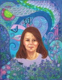 Batik by Marina Elphick, a recognised contemporary batik artist from the UK, specialising in Portraits.