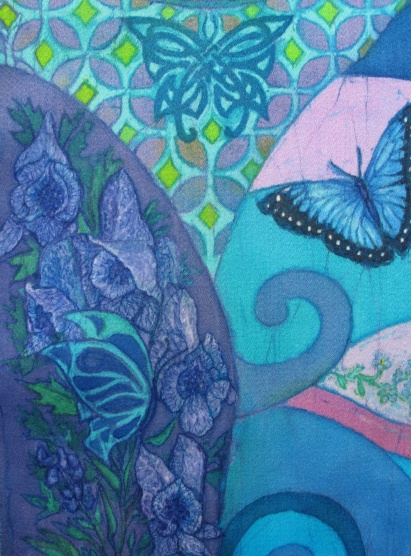 Batik by Marina Elphick, artist specialising in batik art and portraiture.