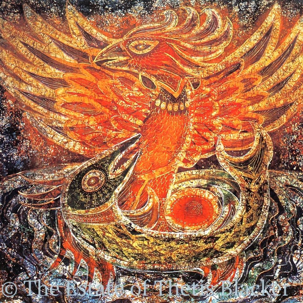 Batik by Thetis Blacker, UK Batik artist and fellow of The Temenos Academy