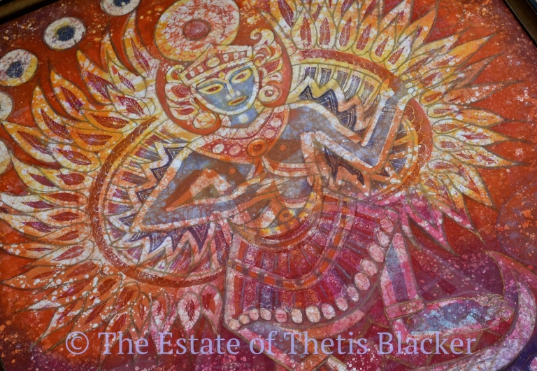 Batik by Thetis Blacker, UK Batik artist and fellow of The Temenos Academy