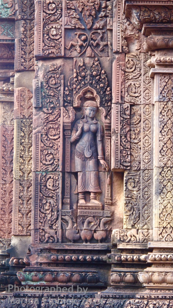 Marina's inspirational travel adventure at Banteay Srey Temple