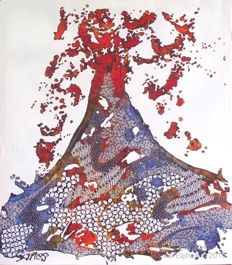 Contemporary batik by Tatang Wibowo.