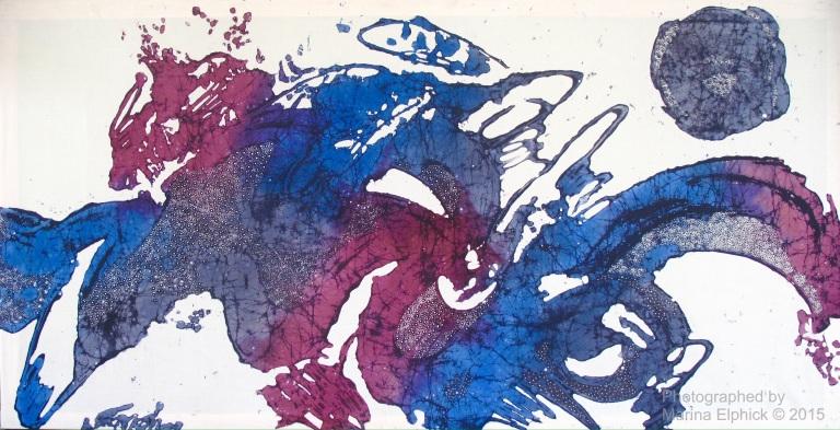 Contemporary batik by Tatang Wibowo.