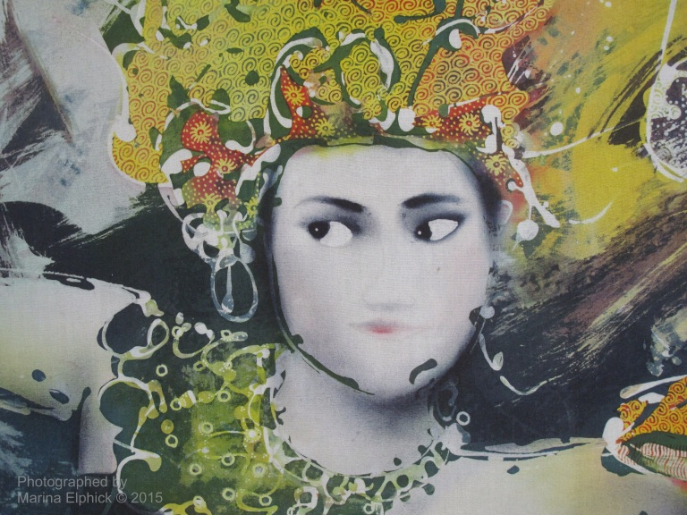 Contemporary batik by Widayana Koeswadji.