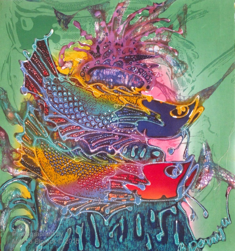 Contemporary batik by Bambang Darmo, a well known Indonesian Batik Artist.