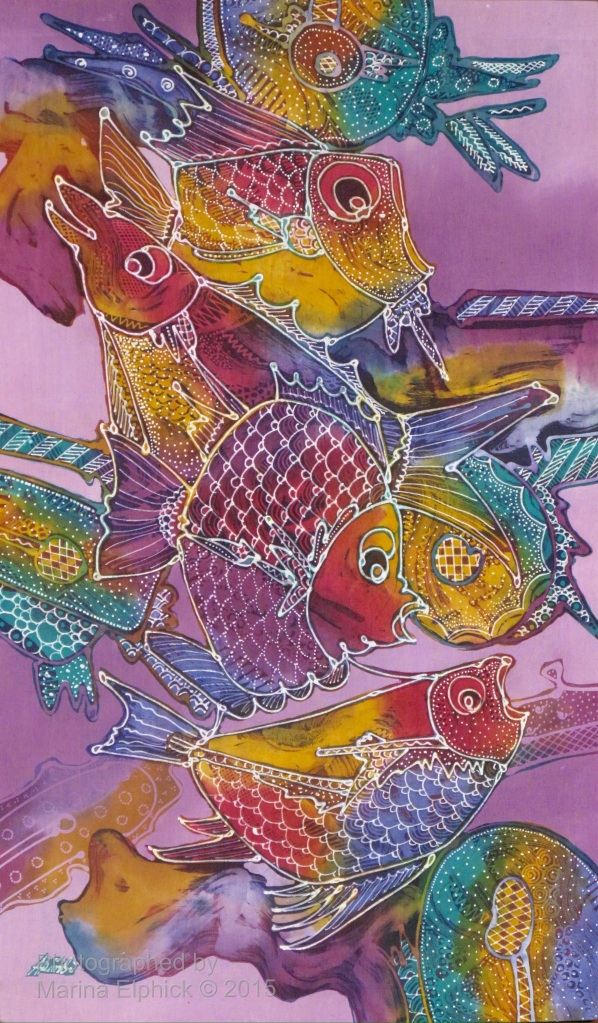 Contemporary batik by Mr Trisno, renowned Indonesian artist.