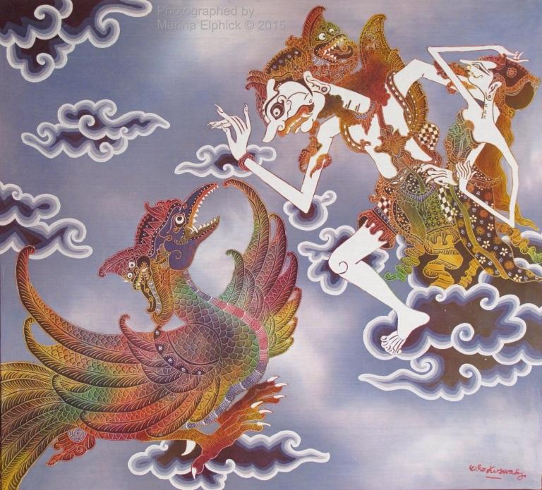 Batik in traditional style by Joko Koeswadji.