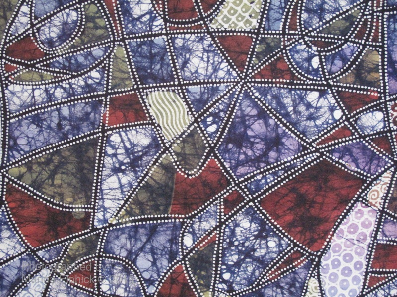Detail of batik by Maya Hanjani.