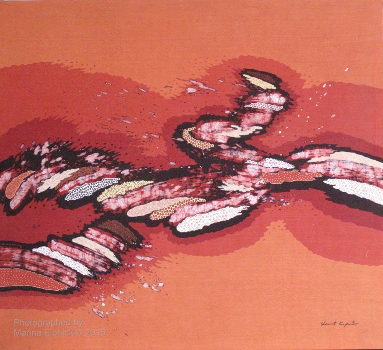 Contemporary batik by Slamet Riyanto, leading Indonesian Batik Artist.