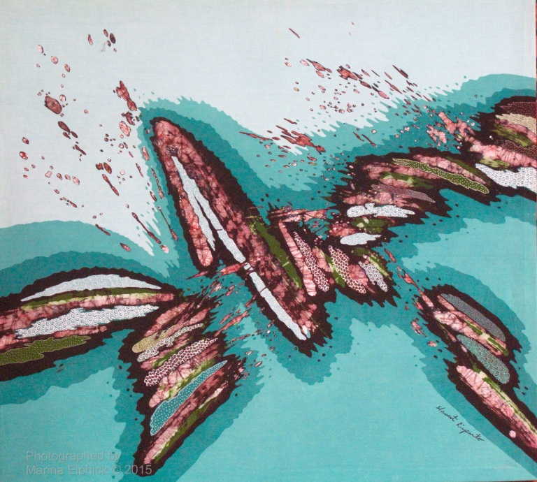 Contemporary batik by Slamet Riyanto, leading Indonesian Batik Artist.