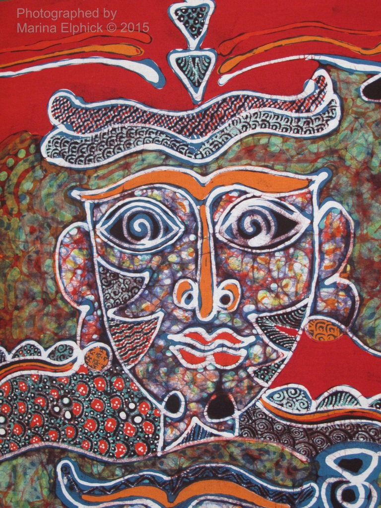 Contemporary batik by Joko Koeswadji.