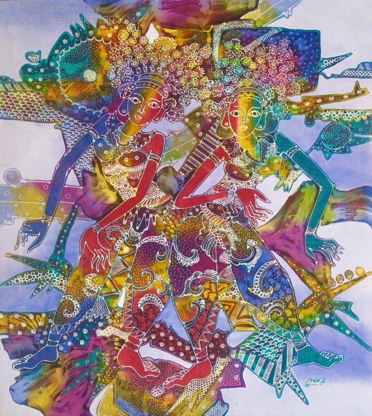 Contemporary batik by Mr Trisno