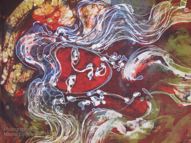 Batik by Aprat Koeswadji. Aprat was a co founder of Leksa Ganesha Gallery.