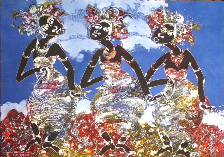 Batik by Aprat Koeswadji. Aprat was a co founder of Leksa Ganesha Gallery.
