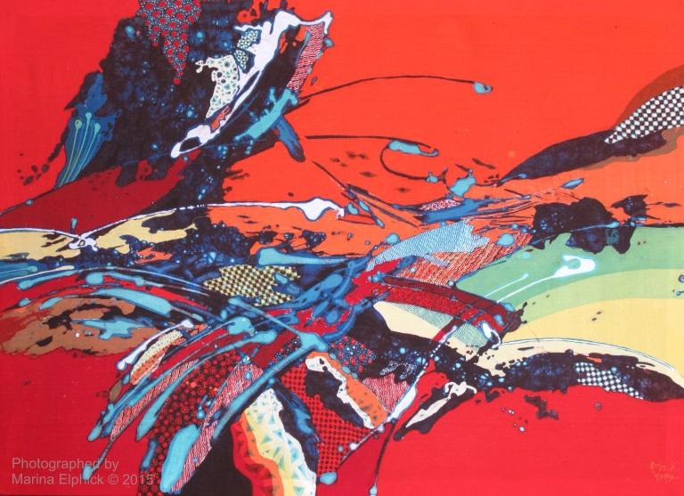 Abstract batik by Joko Koeswadji.