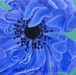 Persian Star, oil on canvas by Marina Elphick, painter and batik artist working in the UK