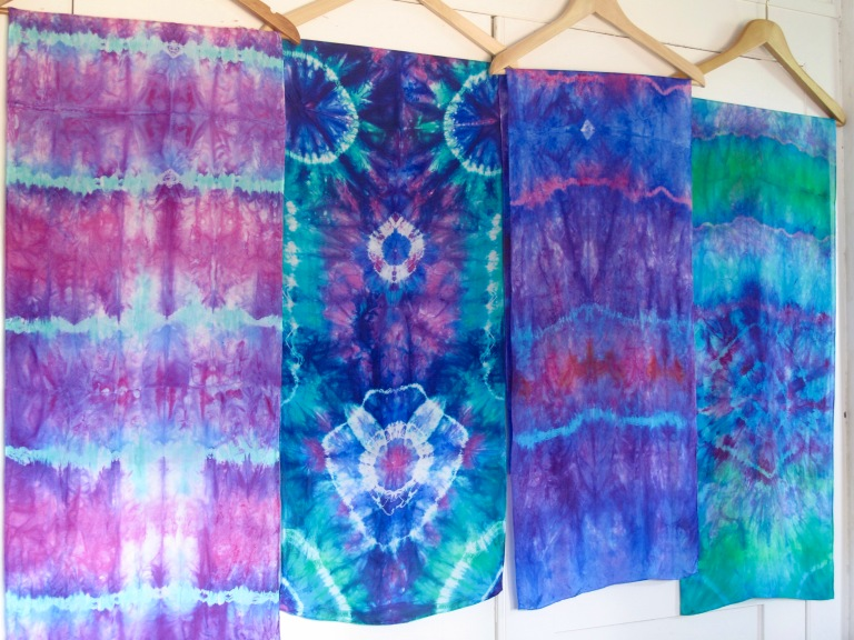 Tie dye on silk, Marina Elphick